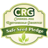 We are one of the first signers of the Safe Seed Pledge.