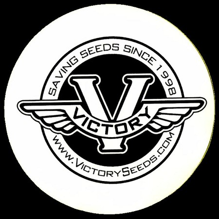 "Sticker, 3.5"" Round Victory Seeds"