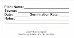 Seed Labels (Sheet of 10)